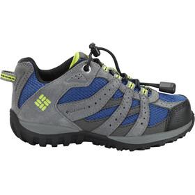 Columbia Redmond WP Shoes Kinder azul/bright green